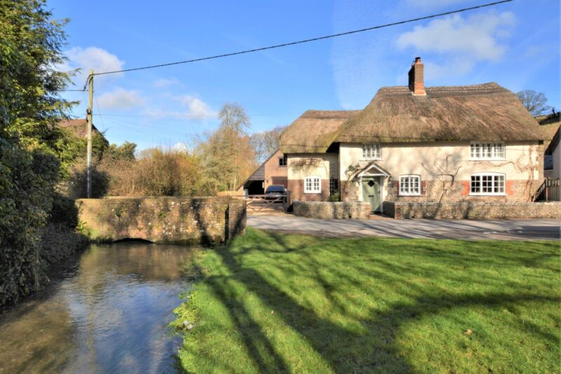 View towards the character thatched cottage